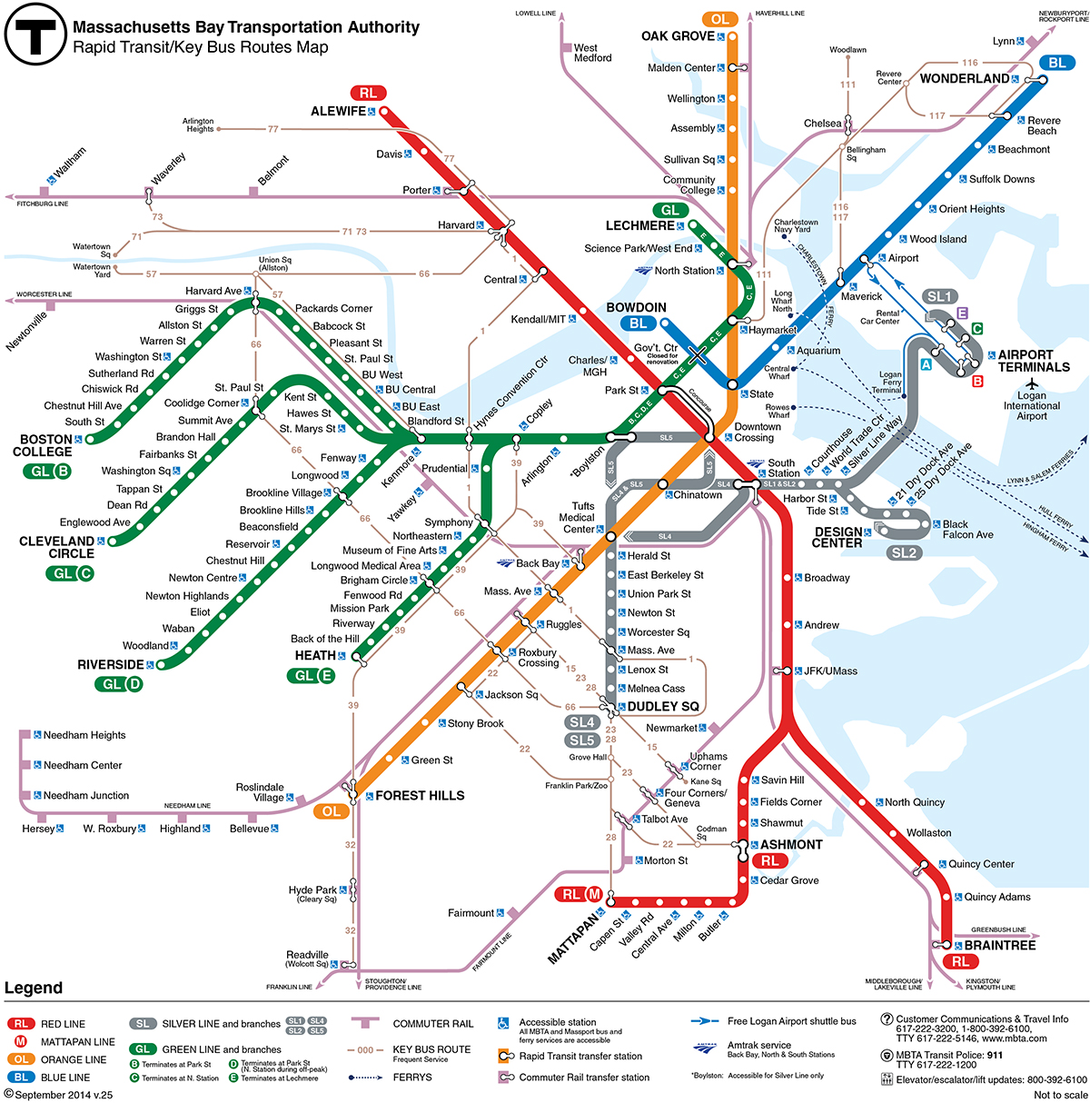 T Station Map How many T stations have you been to?